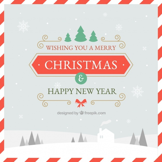 Background with congratulations for christmas