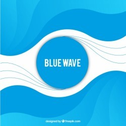 Blue background with abstract waves