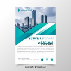 Business brochure with geometry