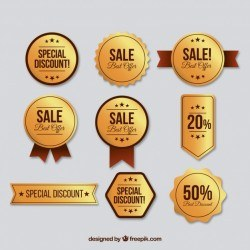 Collection of luxury discount sticker