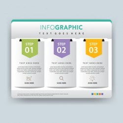 Folder infographic vector illustration design