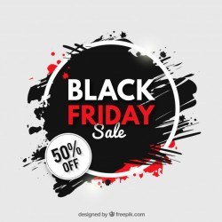 Grunge background of black friday sales