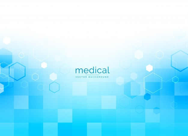 Medical background in bright blue color