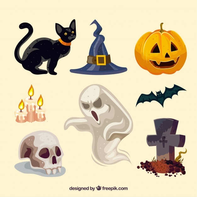 Modern variety of halloween elements