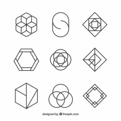 Set of logos of abstract shapes