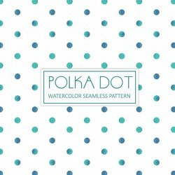 Watercolor Polka Dot Background