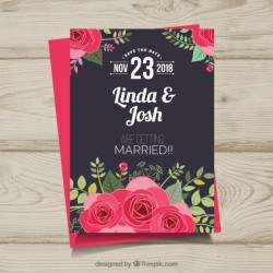 Cute wedding invitation template