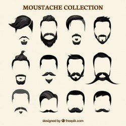 Flat mustache collection