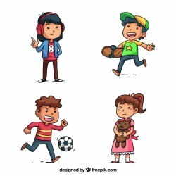 Funny kids character collection