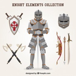 Knight elements with classic style