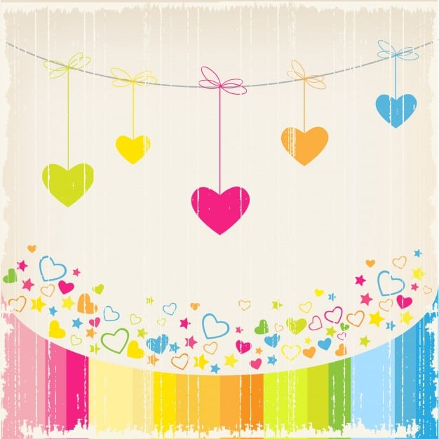 Love background with heart