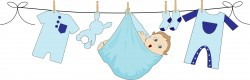 Baby Boy Hanging On A Clothesline Icons PNG