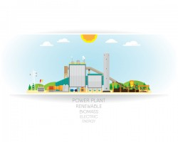 biomass energy white background