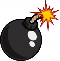Black Cartoon Bomb Icons PNG