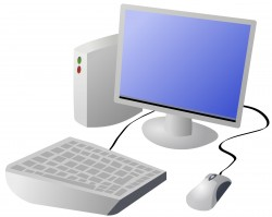 Cartoon Computer and Desktop Icons PNG