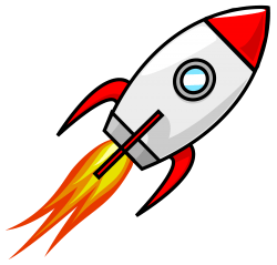 Cartoon Moon Rocket Remix 2 Icons PNG
