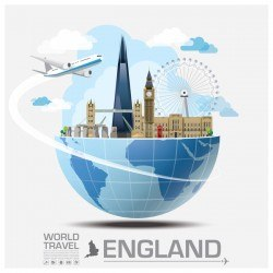 England travel vector
