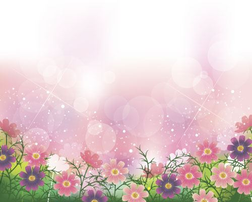 Flower with pink background