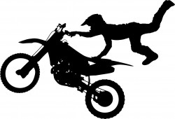 Motocross Bike Aerial Stunt Silhouette Icons PNG