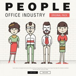 People office industry template vectors set 15