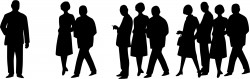 People Silhouettes – 60s Crowd Icons PNG
