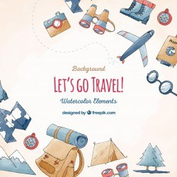 Travel and vacation elements background