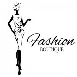 Girl with fashion boutique illustration vector 01