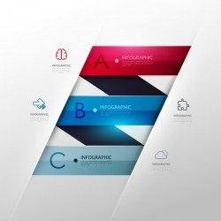 Vector infographic colored template material 10