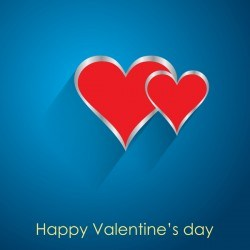 Valendine day background with enamoured heart vector 01
