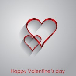 Valendine day background with enamoured heart vector 11