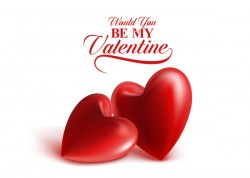 Red heart valentine cards with white background vector 01