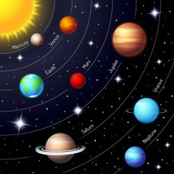 Space infographic template vectors material 02