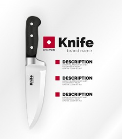 knife poster template vector design 01