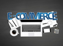 E-commerce with workplace template vector 02