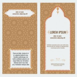 Islamic style brochure and flyer cover template vector 06