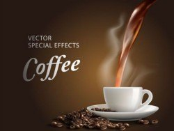 Special effects coffee poster template vector 04