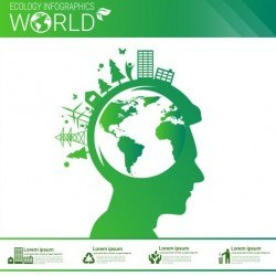 Ecology world infographics design vector 01