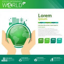 Ecology world infographics design vector 17