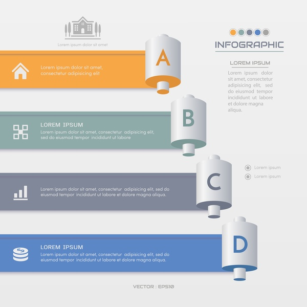 Business infographic banner vector template 09