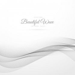 Abstract wavy lines with white background vector 06