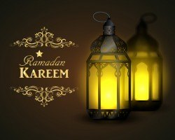 Creative ramadan jareem dark color background vector 01