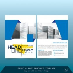 Blue styles brochure cover design vector 09