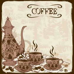 coffee poster retro hand drawn vector 05