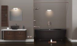 modern bathroom realistic interior vector