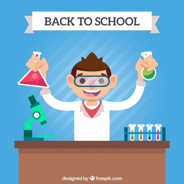 Back to school background with student