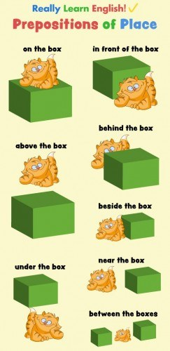 Flash Cards : Prepositions of Place