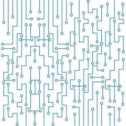 Modern circuit board technology background