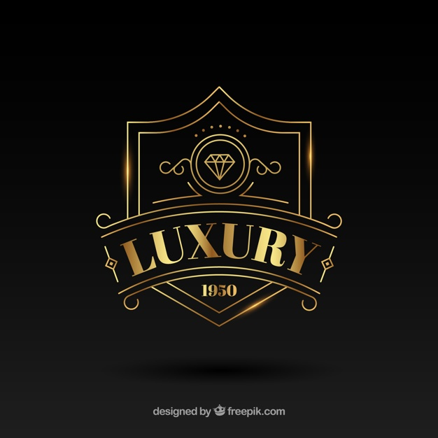 Vintage and luxury logo template