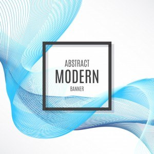 Abstract Banner with Blue Abstract Waves