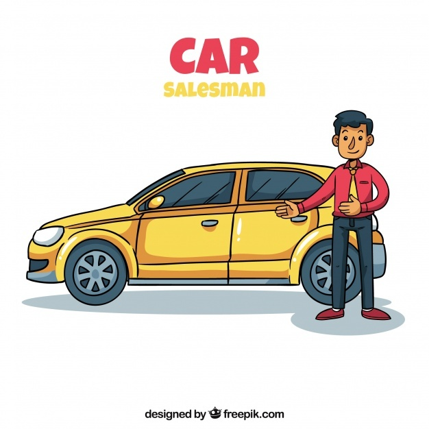 Car salesman concept